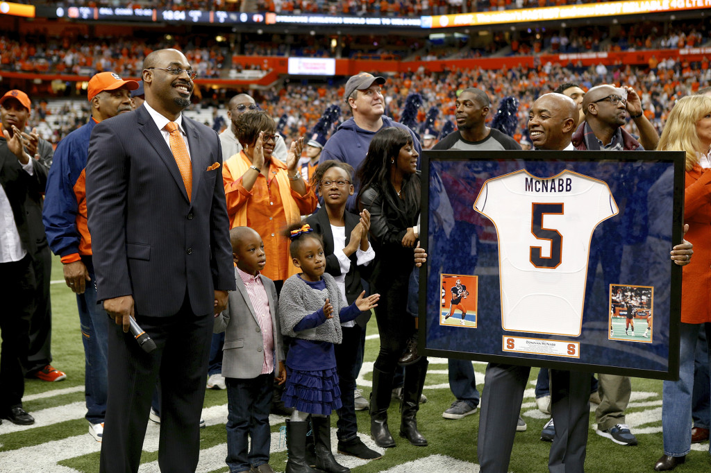 SU vs Wake Forest, 2013 Donavan McNabb's # retired