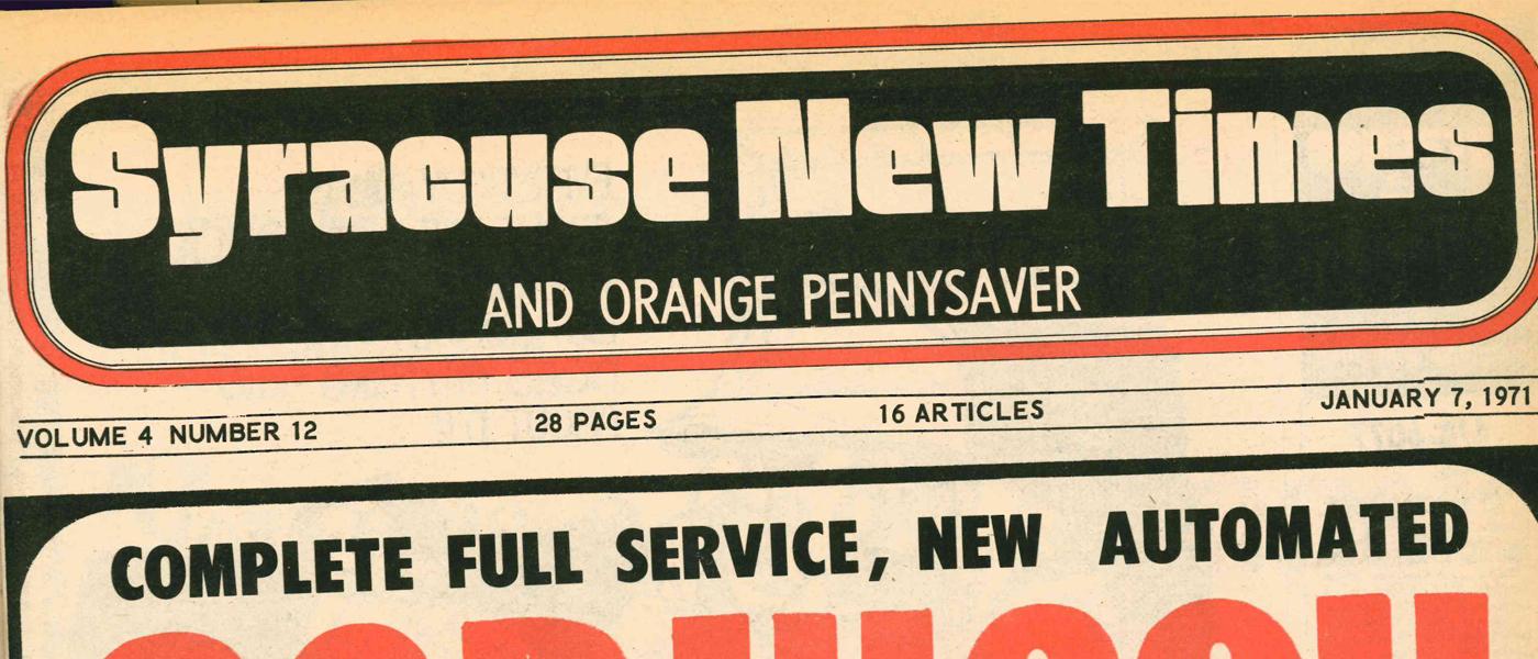 Vintage Syracuse New Times