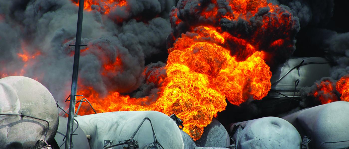 Train Crude Oil Explosion