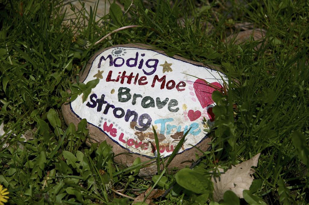 """Little Moe's"" memorial marker. Michael Davis Photo | Syracuse New Times"
