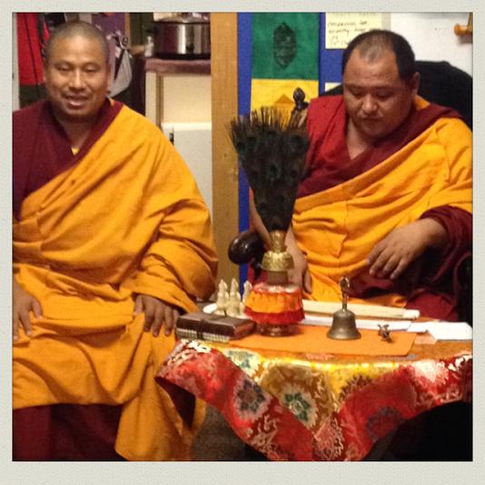 Lobsand and Geshe Lama Phuntsho