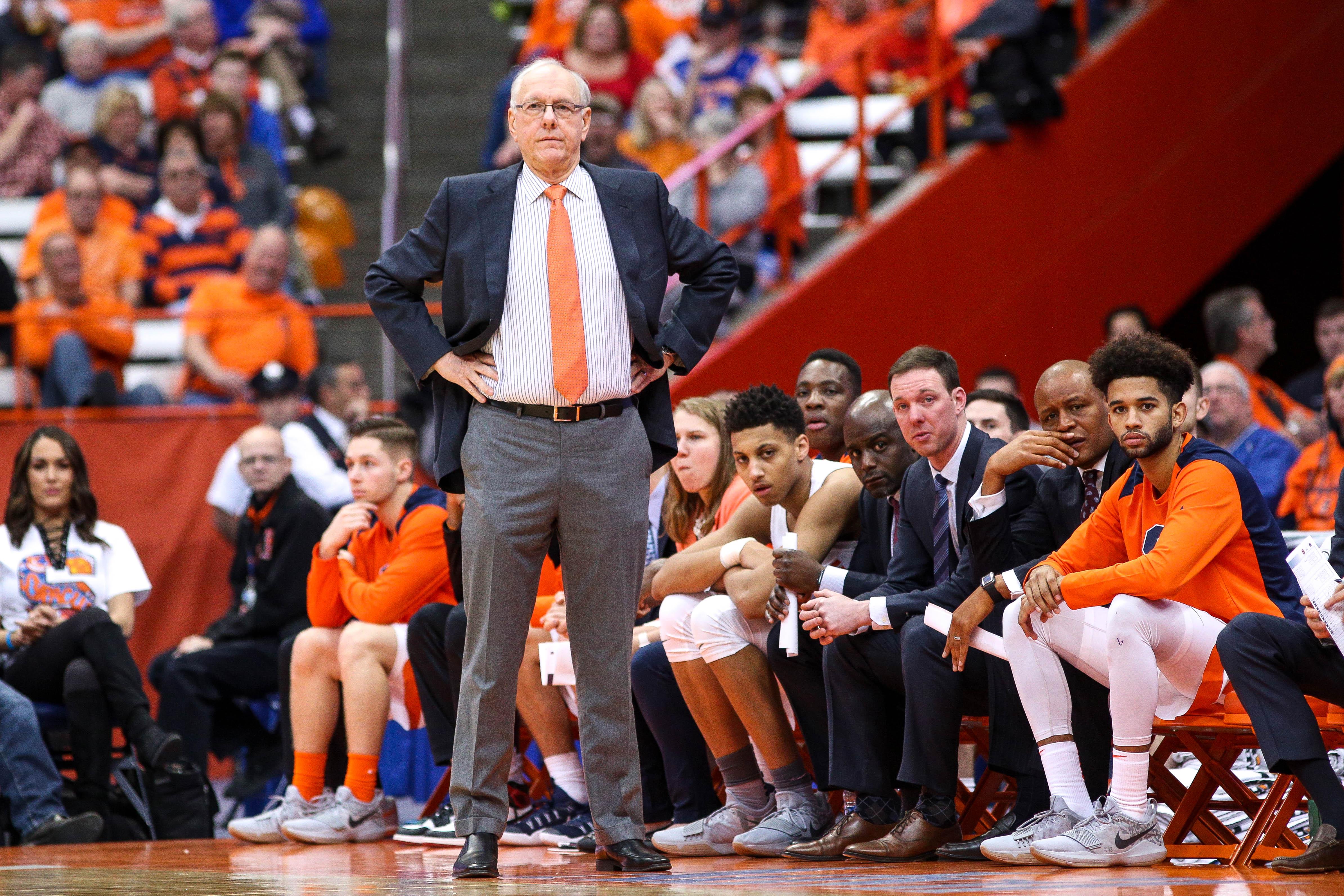 Syracuse University men's basketball coach Jim Boeheim